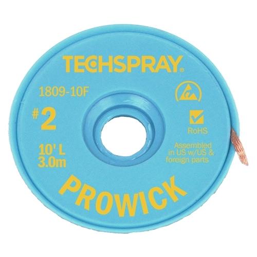 Techspray 1815-5F No-Clean Wick Yellow #2 Braid 5FT
